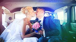 Husban and Wife in Limo
